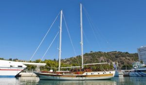 Erato, a wooden yacht in Greeece