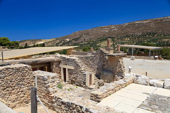 Knossos Palace in Crete. The Minoan civilization.
