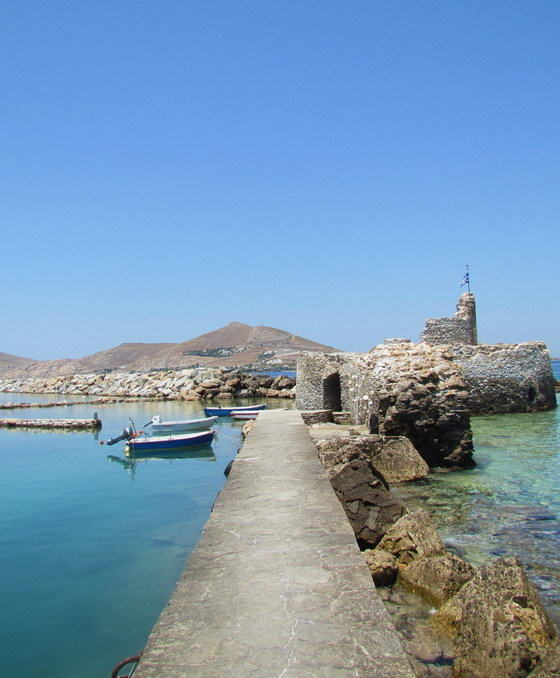 Paros island, port hole of Naoussa