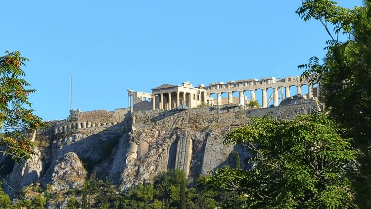 "Acropolis view from the Ancient ""Agora"" - Greece cruise"