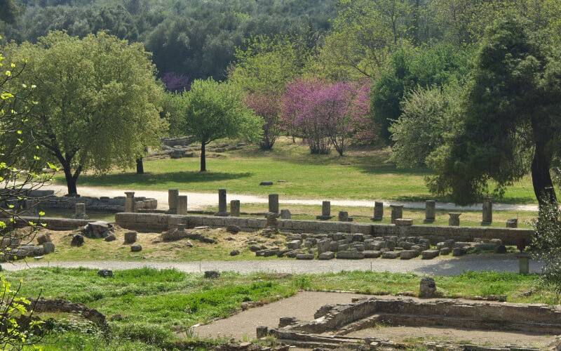 Ancient Olympia archaeological site
