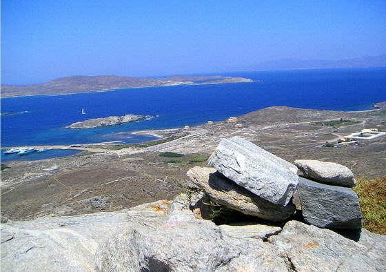 Delos Island, view from mt Cynthos