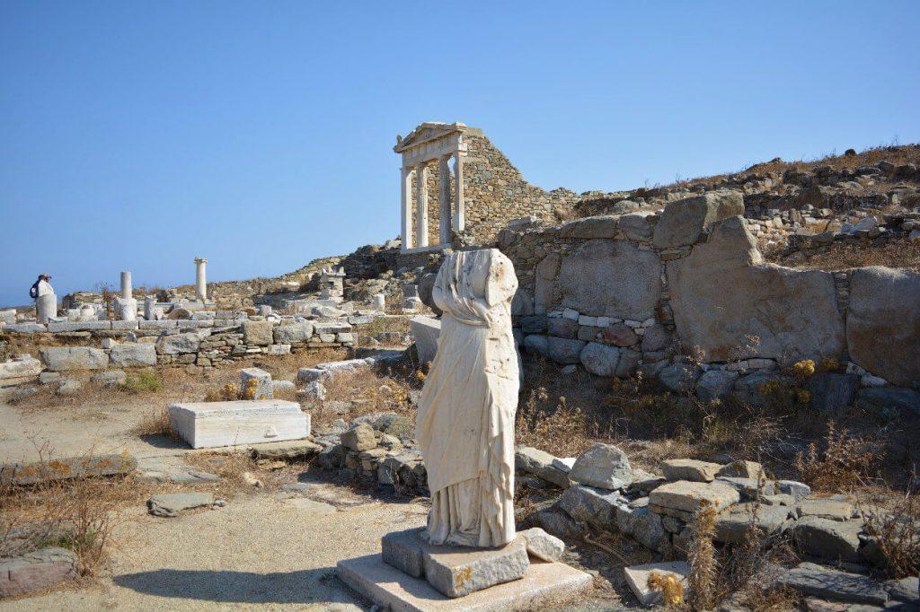 Statue in Delos Island