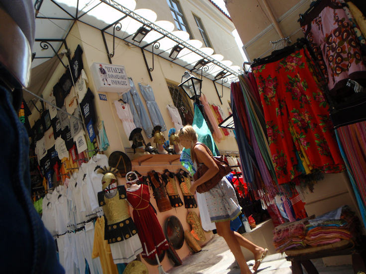the flee market in Athens
