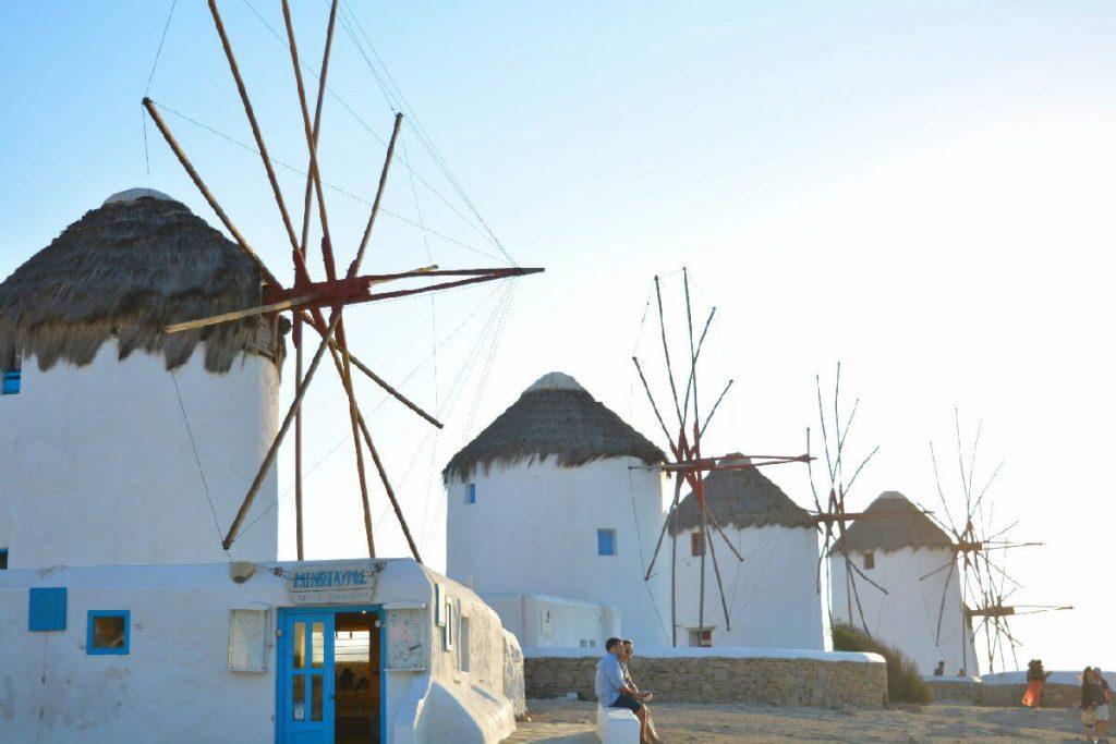 Mykonos, windmils