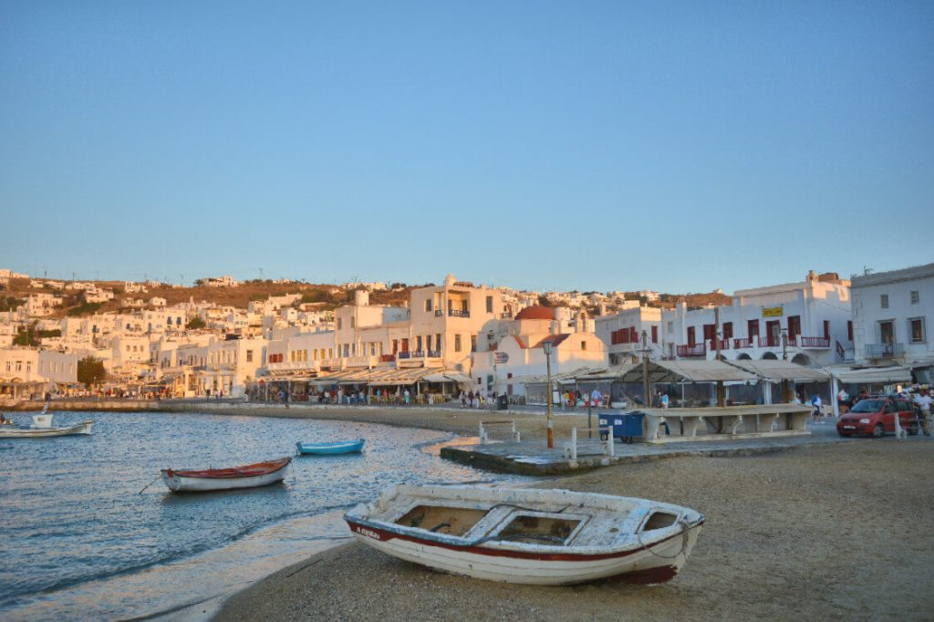 Mukonos Island, down-town old harbour