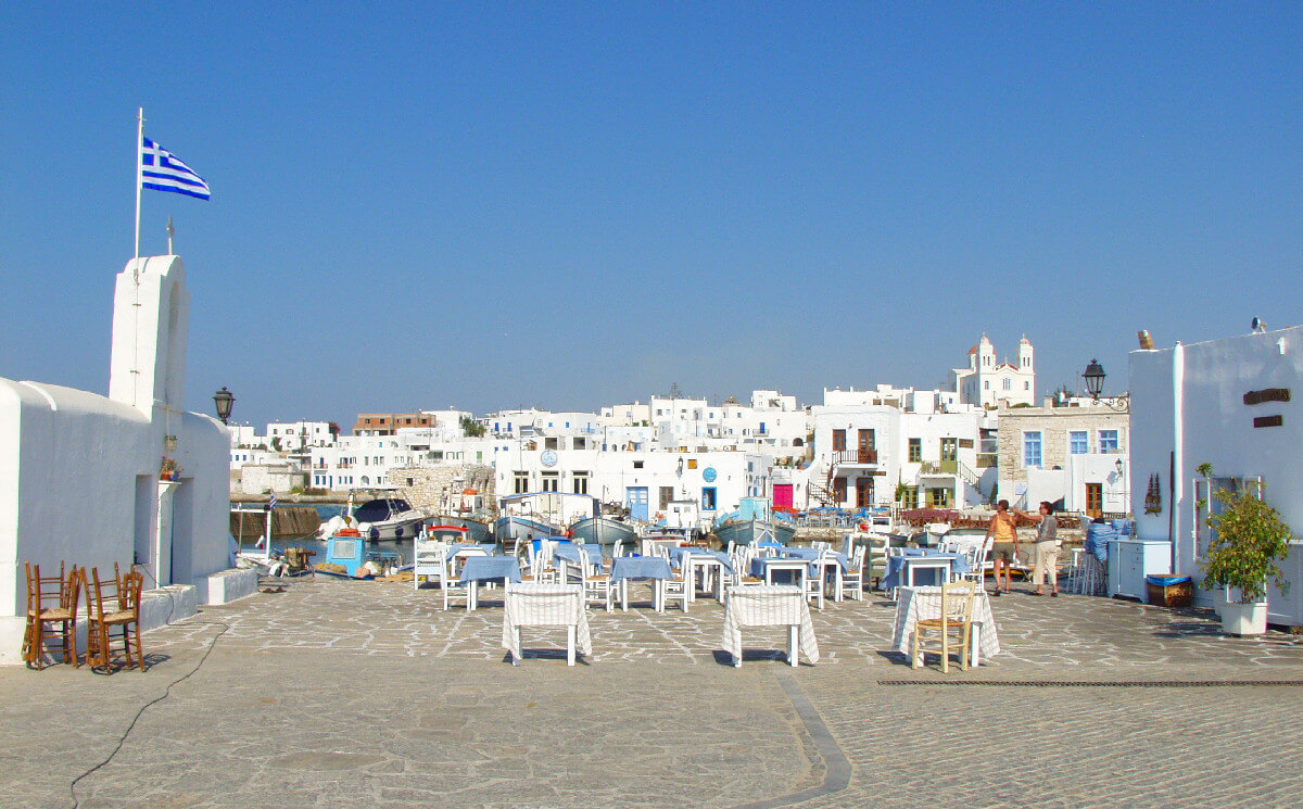 Naoussa port in Paros Island, Cyclades.