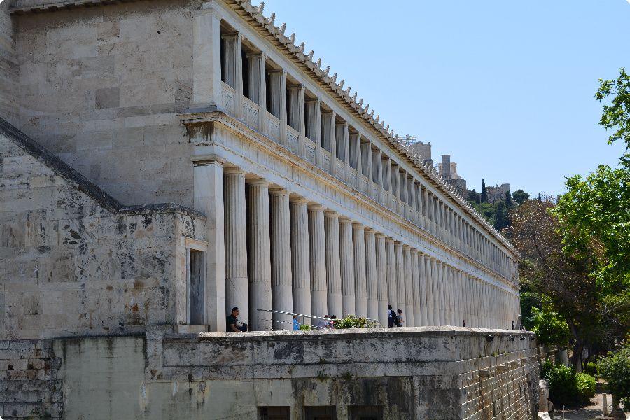 Stoa Attalou, Athens Backpacking Greece