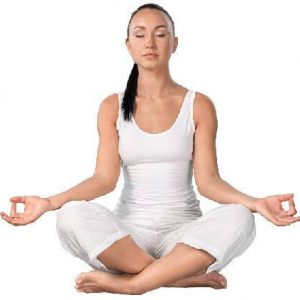woman meditading in yoga position