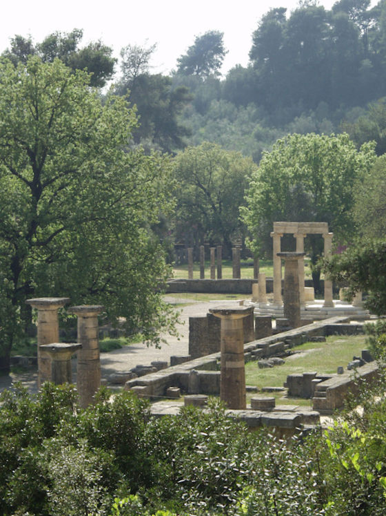 Ancient Olympia, not very distant from the Temple of Apollo Epicurius