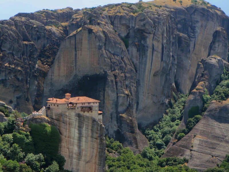 A monastery in Metoera, Greece