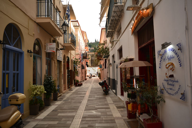 Nauplion alley, Greece