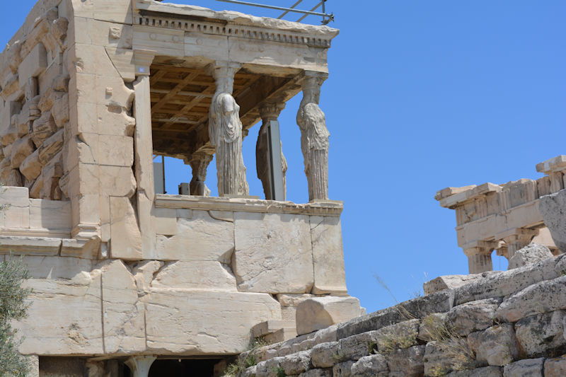 The Karyatids, Acropolis of Athens - Alumni Trip to Greece