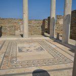 Ancient mosaic in Delos Island