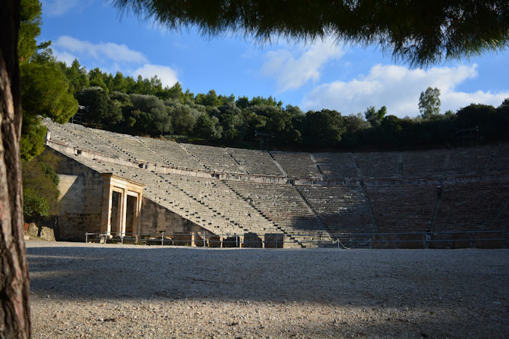 view of Epidaurus ancient theatre - Best Greece packages