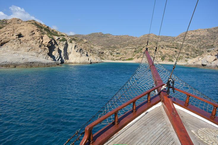 onboard a yacht, Ios Island