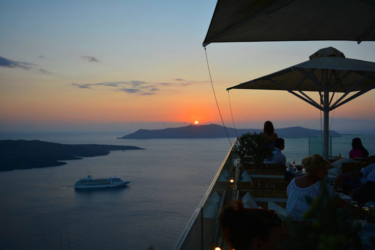 Sunset in Fyra, Santorini