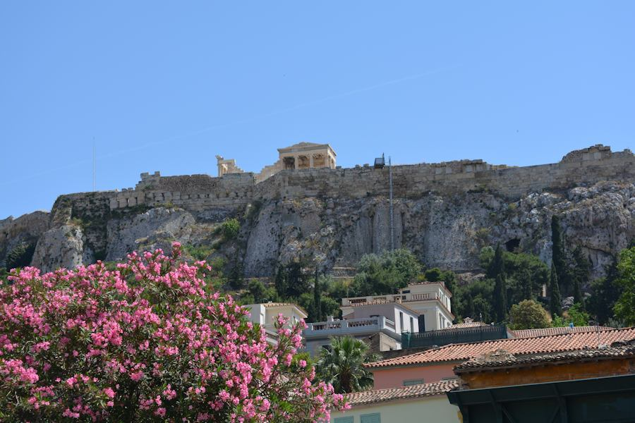 view of the Erechtheion from Plaka