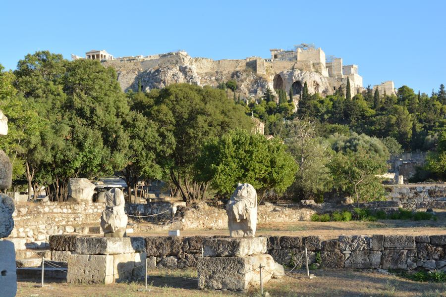 The Acropolis of Athens from the Agora