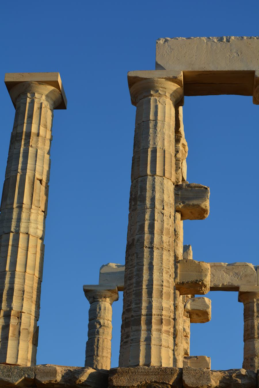 Cape Sounion, columns of the temple