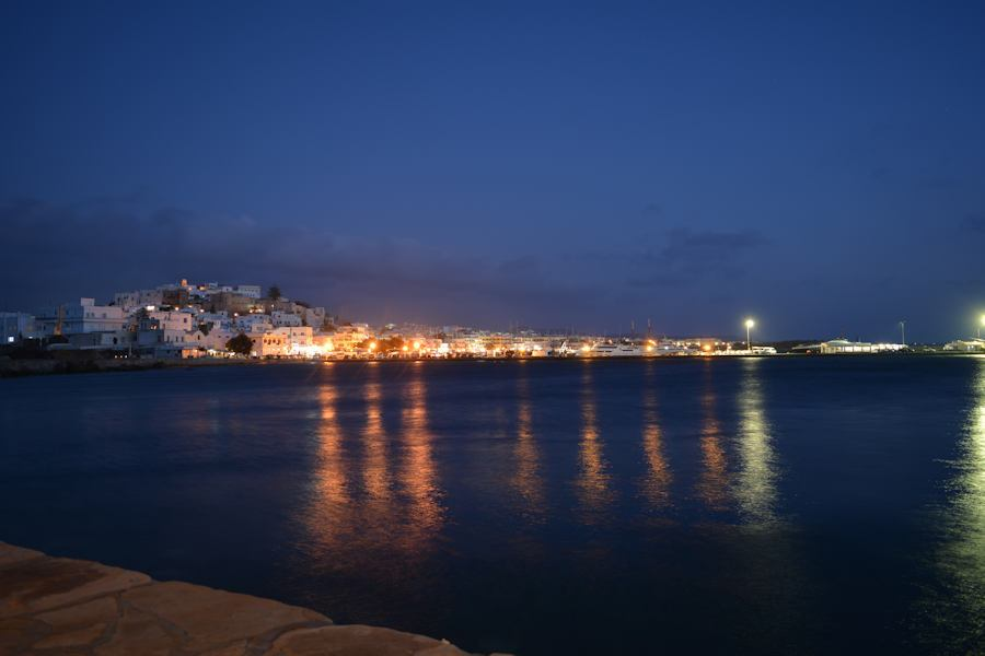 Naxos at night