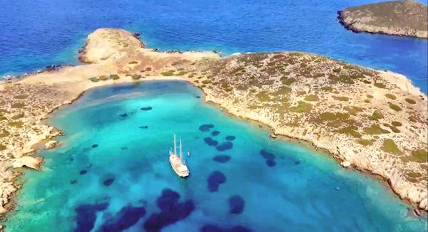 yacht in a bay Greece